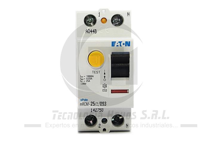 INT. DIFERENCIAL EATON 2X25 AMP MODELO MRCM MONOFASICO