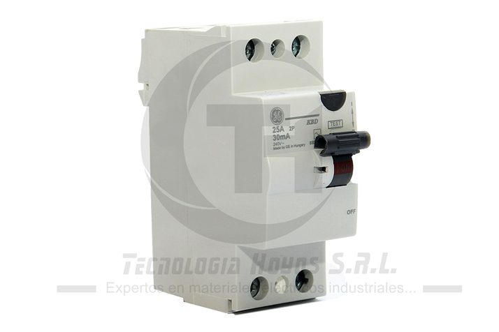 INT. DIFERENCIAL GE MODELO KG 2X25 AMP MONOFASICO