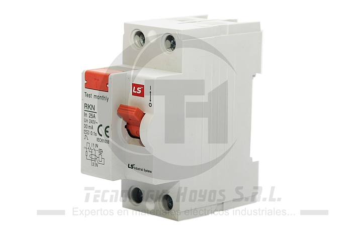 INT. DIFERENCIAL LS MODELO RKN 2X25 AMP MONOFASICO