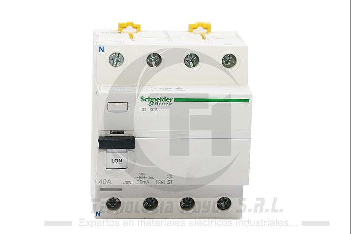INT. DIFERENCIAL SCHNEIDER MODELO ILD 4X40 AMP TETRAPOLAR