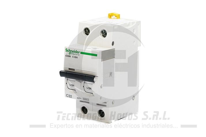 INT. RIEL SCHNEIDER MODELO IC60N 2X32 AMP MONOFASICO