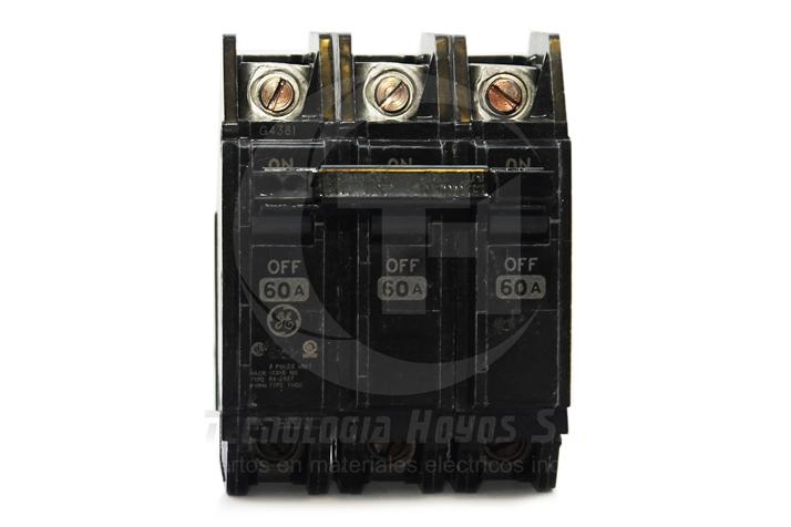 INT. TORNILLO GE MODELO THQC 3X60 AMP TRIFASICO