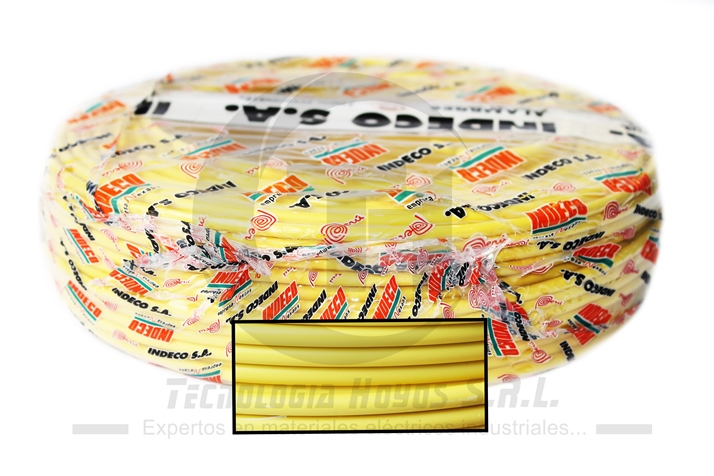 CABLE INDECO ROLLO AMARILLO NH-80 6MM