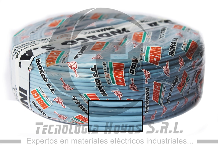 CABLE INDECO ROLLO AZUL NH-80 4MM